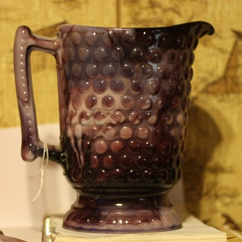Slag glass pitcher - Glassware