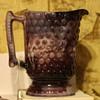 Slag glass pitcher