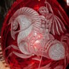 St. George Killing The Dragon Russian Crystal