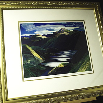 "1 of 2 Group of Seven, Plate Proof""Franklin Carmichael--4 May 1890/24 October 1945 ""XX Century - Fine Art"