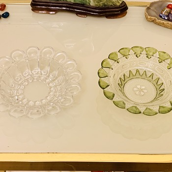 Antique Co-Operative Flint Glass & 1895 Priscilla by Dazell Gilmore & Leighton Bowls  - Glassware