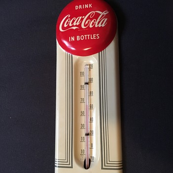 1950's Coca-Cola Tin Thermometer - Coca-Cola