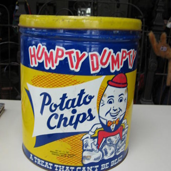 Large Humpty Dumpty Potato Chip Can - Advertising