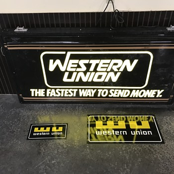 Western Union signs 1980s  - Advertising