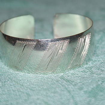 Sterling Silver Italian Cuff Bangle - Fine Jewelry