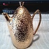 Weeping Gold Tea or Coffee Server / Hollywood Regency Style / Unknown Maker Circa 1950's-60's