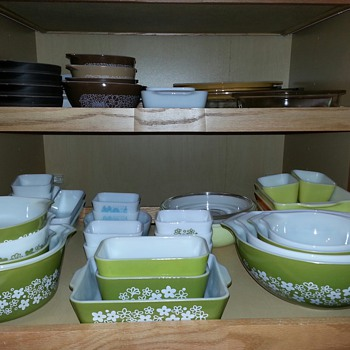 My Spring Blossom aka Crazy Daisy Pyrex Collection...  They're So Cute & Cheerful  :-) - Kitchen