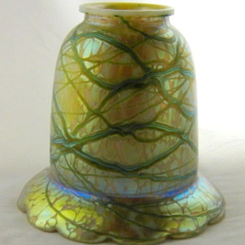 Bohemian Glass Shade  - Art Glass