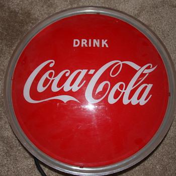 Older Light Up Coke Sign - Coca-Cola