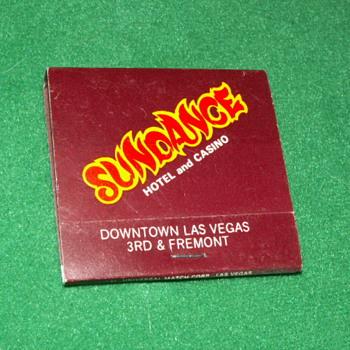 Vintage Sundance Casino Matchbook ~ Las Vegas, Nevada - Tobacciana