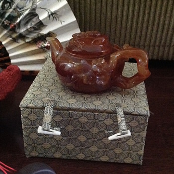 Chinese Teapot in Box - Asian