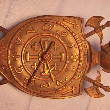 Clock that commemorates the Crusades.    - Clocks