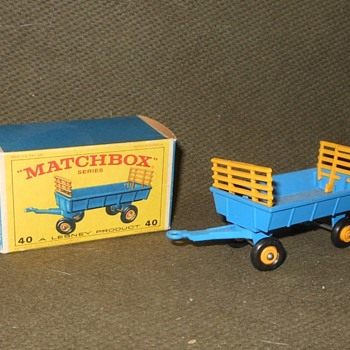 Mandatory Matchbox Monday MB 40 Hay Trailer - Model Cars