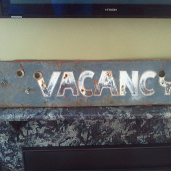 Vintage Neon Vacancy Sign - Signs