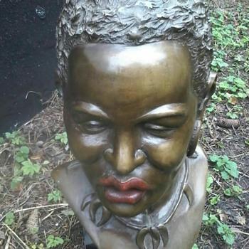 a bronze bust - Fine Art