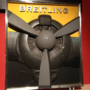 A nice 3D  Breitling watch Advertising stand - Advertising