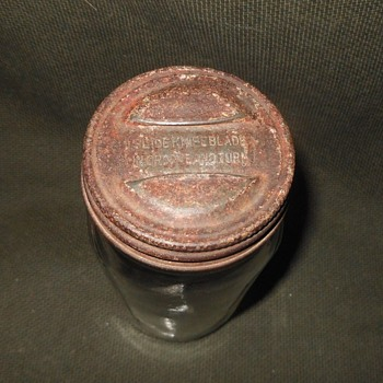 Vintage Jar With Lid That Opens With The Assist Of A Table Knife - Kitchen
