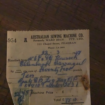 1957 Gritzner VZ sewing machine - needing Info - Sewing