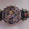 Nice littleVictorian flower Micro Mosaic brooch set in silver