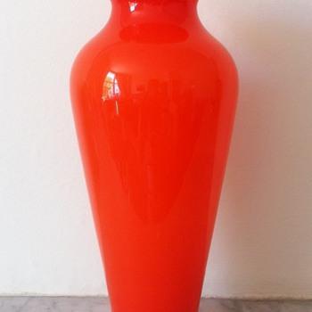 Tango baluster vase  - Art Glass