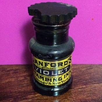 Sanford's Stamping Ink Bottle  - Bottles