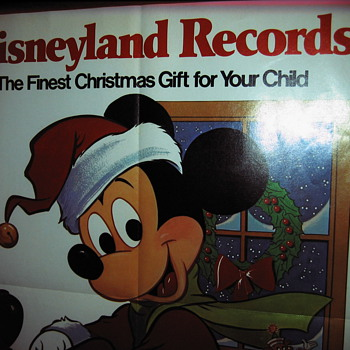 Vintage Mickey Mouse Christmas Ad Poster - Advertising