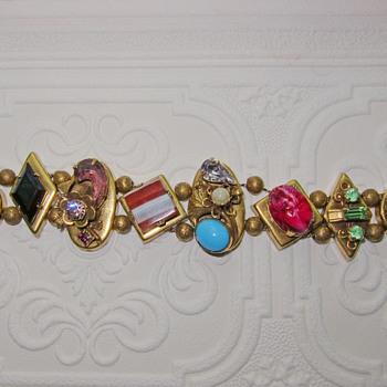 Vintage Slide Bracelet 2 - Costume Jewelry