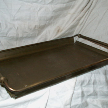 Antique/Vintage Brass Service Tray ~ Patina Rich - Kitchen