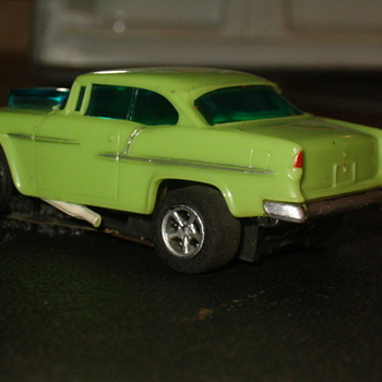 AFX LIME GREEN 55 CHEVY GASSER H.O. SCALE - Model Cars