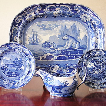 Blue and White Enoch Wood Sporting Series  - China and Dinnerware