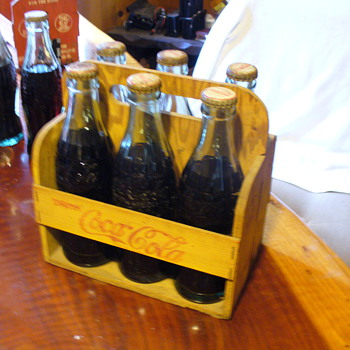 Coca-Cola Wood Carrier 6 Pack - Coca-Cola