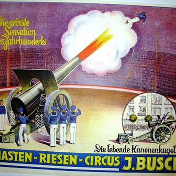 """Circus Posters featuring """"The Great Wilno"""" - Human Cannonball"""