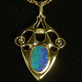 Archibald Knox stunner with boulder opal - Fine Jewelry