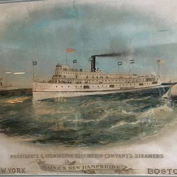 Providence and Stonington Steamship Company's Steamers - Advertising