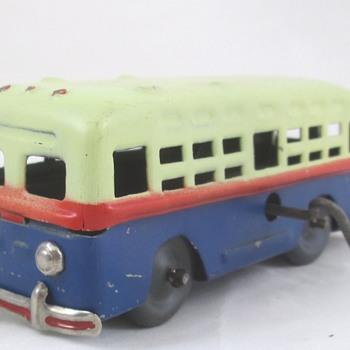 Occupied Japan Tin Bus - Toys