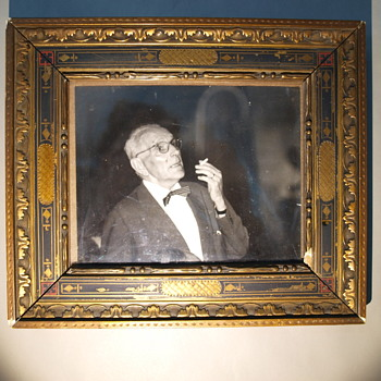 Frame with great grandpa with bow tie pic  - Photographs