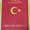 Turkish Diplomatic passport