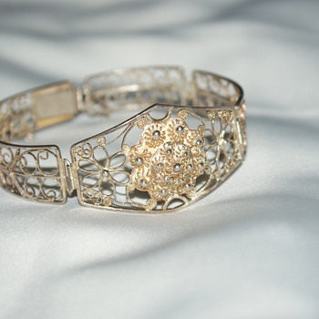 Unusual Silver Filigree Bracelet - Fine Jewelry