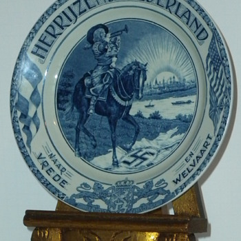 Dutch Post WW2 Commemorative Plate - China and Dinnerware