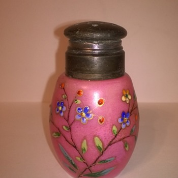 Unusually Decorated Shaker - Art Glass