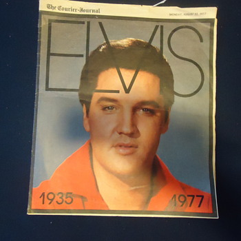OLD NEWS PAPPER OF ELVIS PRESLY FROM 1935 TO 1977