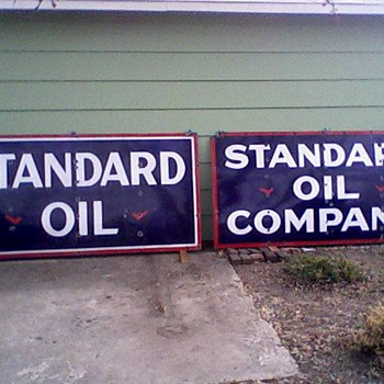 Porcelain Standard Oil signs