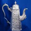 Irish Antique Silver Coffee Pot, William Nowlan, Dublin 1831