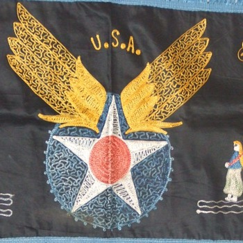 """WW2 souvenir embroidery from the """"Middle East"""" c. 1943"""