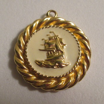 Medallion, sailing ship