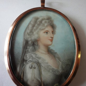 Silver gilt ladies portret pendant - Fine Jewelry