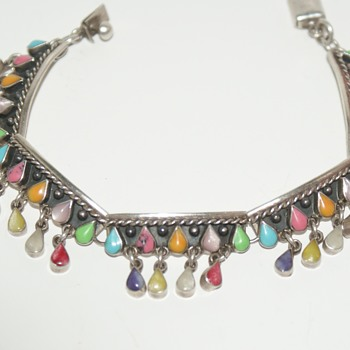 Colourful Mexican Sterling Bracelet - Fine Jewelry