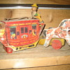 Wooden toy stagecoach