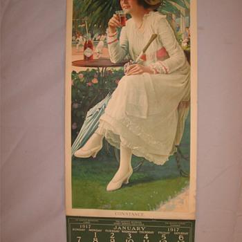 1917 Calander - Coca-Cola