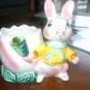Vintage easter bunny planter